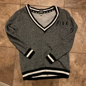 PINK V Neck Sweatshirt